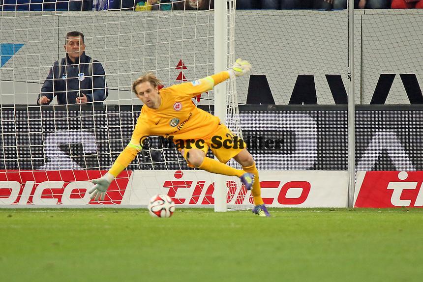 Timo Hildebrand (Eintracht) hat das Nachsehen - TSG 1899 Hoffenheim vs. Eintracht Frankfurt, WIRSOL Neckar Arena Sinsheim