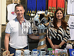 Sean and Petra Clarke from Wee County Trophies at the Bank of Ireland Expo held in the old church Ardee. Photo:Colin Bell/pressphotos.ie