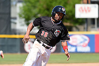 Erie SeaWolves second baseman Marcus Lemon (39) runs the bases during a game against the Akron RubberDucks on May 18, 2014 at Jerry Uht Park in Erie, Pennsylvania.  Akron defeated Erie 2-1.  (Mike Janes/Four Seam Images)