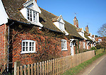 Row of attractive cottages at Orford, Suffolk, England
