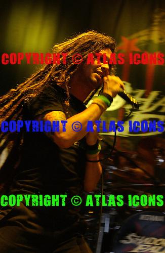 Shadows Fall; Ozzfest 2005:<br /> Photo Credit: Eddie Malluk/Atlas Icons.com