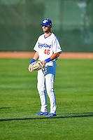 Cody Thomas (46) of the Ogden Raptors before the game against the Missoula Osprey in Pioneer League action at Lindquist Field on July 13, 2016 in Ogden, Utah. Ogden defeated Missoula 8-2. (Stephen Smith/Four Seam Images)