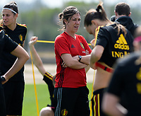 20180301 - LARNACA , CYPRUS :  Belgian mental coach Steffi Van Ranst pictured during a Matchday -1 training from The Belgian Red Flames prior to their game against Spain , on Thursday 1 March 2018 at the Alpha Sports Grounds in Larnaca , Cyprus . This will be the second game in group B for Belgium during the Cyprus Womens Cup , a prestigious women soccer tournament as a preparation on the World Cup 2019 qualification duels. PHOTO SPORTPIX.BE | DAVID CATRY