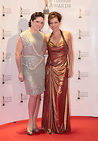 12/2/11 Grainne Seoige and Maura Duranne on the red carpet at the 8th Irish Film and Television Awards at the Convention centre in Dublin. Picture:Arthur Carron/Collins