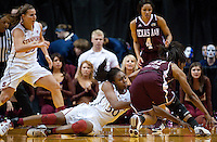 INDIANAPOLIS, IN - APRIL 3, 2011: Chiney Ogwumike battles for a loose ball during the NCAA Final Four against Texas A&M at Conseco Fieldhouse  in Indianapolis, IN on April 1, 2011.