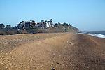 Bawdsey manor seen form the beach, Bawdsey, Suffolk, England