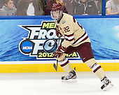 Paul Carey (BC - 22) - The Boston College Eagles defeated the University of Minnesota Golden Gophers 6-1 in their 2012 Frozen Four semi-final on Thursday, April 5, 2012, at the Tampa Bay Times Forum in Tampa, Florida.