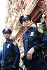 """Pilot""--Ahmad (Tom Reed, left) and Kenny (Stark Sands, right) are two rookie cops trying to navigate through their first day at upper Manhattan?¢¬?¬?s 22nd Precinct, on the series premiere of NYC 22, Sunday, April 15 (10:00-11:00 PM, ET/PT) on the CBS Television Network. Photo: David M. Russell/CBS CBS Broadcasting Inc. All Rights Reserved."