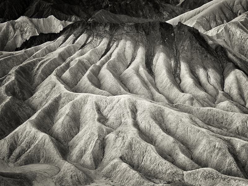 Eroded cliffs from Zabriskie Point. Death Valley National Park, California