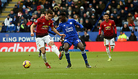 Leicester City's Wilfred Ndidi battles with Manchester United's Ander Herrera <br /> <br /> Photographer Hannah Fountain/CameraSport<br /> <br /> The Premier League - Leicester City v Manchester United - Sunday 3rd February 2019 - King Power Stadium - Leicester<br /> <br /> World Copyright © 2019 CameraSport. All rights reserved. 43 Linden Ave. Countesthorpe. Leicester. England. LE8 5PG - Tel: +44 (0) 116 277 4147 - admin@camerasport.com - www.camerasport.com