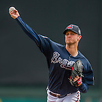 11 March 2016: Atlanta Braves pitcher Kyle Kendrick on the mound during a Spring Training pre-season game against the Philadelphia Phillies at Champion Stadium in the ESPN Wide World of Sports Complex in Kissimmee, Florida. The Phillies defeated the Braves 9-2 in Grapefruit League play. Mandatory Credit: Ed Wolfstein Photo *** RAW (NEF) Image File Available ***