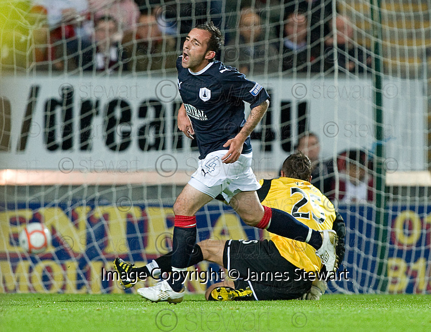 21/09/2010   Copyright  Pic : James Stewart.sct_jsp002_falkirk_v_hearts  .:: MARK STEWART CELEBRATES AFTER HE  SCORES FALKIRK'S FIRST :: .James Stewart Photography 19 Carronlea Drive, Falkirk. FK2 8DN      Vat Reg No. 607 6932 25.Telephone      : +44 (0)1324 570291 .Mobile              : +44 (0)7721 416997.E-mail  :  jim@jspa.co.uk.If you require further information then contact Jim Stewart on any of the numbers above.........