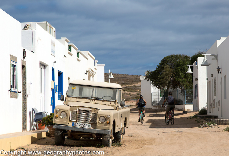 Caleta de Sebo village, La Isla Graciosa, Lanzarote, Canary Islands, Spain