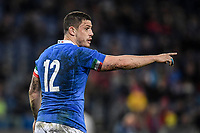 Luca Morisi Italy<br />  <br /> Roma 9-02-2019 Stadio Olimpico<br /> Rugby Six Nations tournament 2019  <br /> Italy - Wales <br /> Foto Antonietta Baldassarre / Insidefoto