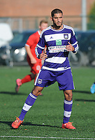 20151031 - KORTRIJK , BELGIUM : Anderlecht 's Ilias Benamar pictured during the Under 19 ELITE soccer match between KV Kortrijk and RSC Anderlecht U19 , on the thirteenth matchday in the -19 Elite competition. Saturday 31 October 2015. PHOTO DAVID CATRY