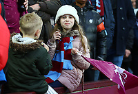 Aston Villa fan before the match against Wolverhampton Wanderers. <br /> <br /> Photographer Leila Coker/CameraSport<br /> <br /> The EFL Sky Bet Championship - Aston Villa v Wolverhampton Wanderers - Saturday 10th March 2018 - Villa Park - Birmingham<br /> <br /> World Copyright &copy; 2018 CameraSport. All rights reserved. 43 Linden Ave. Countesthorpe. Leicester. England. LE8 5PG - Tel: +44 (0) 116 277 4147 - admin@camerasport.com - www.camerasport.com