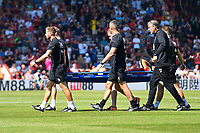 Charlie Daniels of AFC Bournemouth gets stretchered off during AFC Bournemouth vs Manchester City, Premier League Football at the Vitality Stadium on 25th August 2019