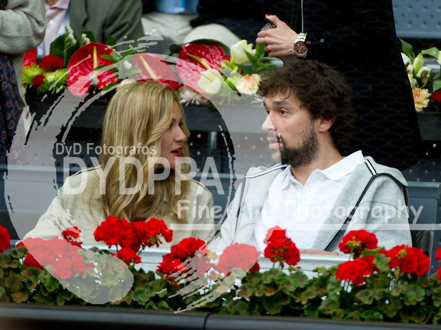 Sergio Llull and his girlfriend Almudena