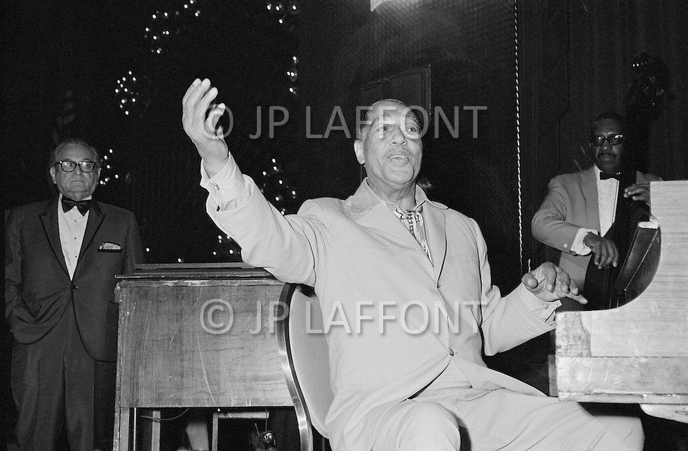 March 8 1971, Manhattan, New York City, New York State, USA --- Duke Ellington Performing Before the Ali-Frazier Fight --- Image by © JP Laffont