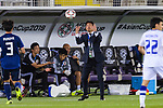 Japan Head Coach Hajime Moriyasu throws in the ball during the AFC Asian Cup UAE 2019 Group F match between Japan (JPN) and Uzbekistan (UZB) at Khalifa Bin Zayed Stadium on 17 January 2019 in Al Ain, United Arab Emirates. Photo by Marcio Rodrigo Machado / Power Sport Images