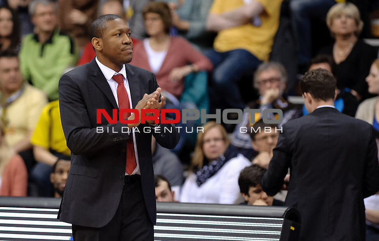 29.03.2015, EWE Arena, Oldenburg, GER, BBL, EWE Baskets Oldenburg vs Artland Dragons, im Bild Tyron McCoy (Trainer Artland Dragons)<br /> <br /> Foto &copy; nordphoto / Frisch