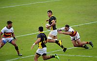 Waikato v Wellington Men's cup semifinal. Day two of the 2018 Bayleys National Sevens at Rotorua International Stadium in Rotorua, New Zealand on Sunday, 14 January 2018. Photo: Dave Lintott / lintottphoto.co.nz
