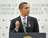 McLean, VA - April 20, 2009 -- United States President Barack Obama makes remarks to Central Intelligence Agency (CIA) employees at the George Bush Center for Intelligence (CIA Headquarters) in McLean, Virginia on Monday, April 20, 2009..Credit: Ron Sachs / Pool via CNP