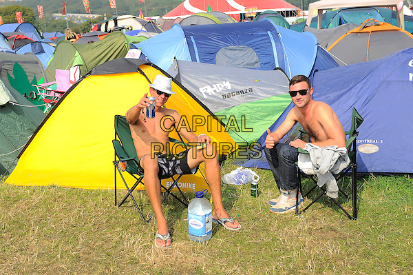 ISLE OF WIGHT, ENGLAND - SEPTEMBER 7: Concert goers at Bestival, Robin HillCountry Park on September 7 in Isle of Wight, England<br /> CAP/MAR<br /> &copy; Martin Harris/Capital Pictures