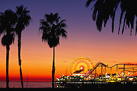 Pacific Park amusement park on Santa Monica Pier, California