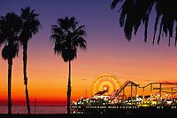 Pacific Park amusement park on Santa Monica Pier, California
