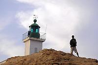 - Corsica,  Ile Rousse, faro de la Pietra<br /> <br /> - Corsica, Ile Rousse, de la Pietra lighthouse