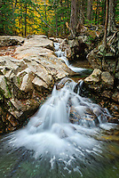 Waterfall at the Basin in Franconia, State Park
