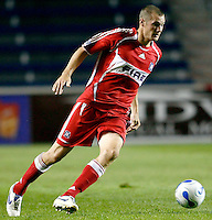 Chicago Fire forward Nate Jaqua (11) makes a move.  The Chicago Fire defeated the DC United 3-0 in the semifinals of the U.S. Open Cup at Toyota Park in Bridgeview, IL on September 6, 2006...
