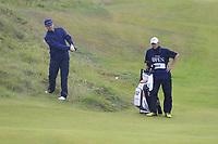 Justin Rose (ENG) plays from the rough and lands in the bunker at the 8th green during Sunday's Final Round of the 148th Open Championship, Royal Portrush Golf Club, Portrush, County Antrim, Northern Ireland. 21/07/2019.<br /> Picture Eoin Clarke / Golffile.ie<br /> <br /> All photo usage must carry mandatory copyright credit (© Golffile | Eoin Clarke)