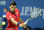 Novak Djokovic (SRB) takes the first set from Roberto Bautista Agut (ESP) 6-3