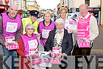 "RIBBON: On Monday morning outside Kirbys Brogue Inn, Tralee the Tralee Cancer committee launched ""The National Pink Ribbon Day"" (Breast Cancer) Front l-r: Johnny Wall (mayor of Tralee) and Chris Griffin (chairperson). Back l-r: Edward O'Connor, Deirdre Quinn (Garda), Catherine Curtin, Maureen Roche and Mike (Fox) O'Connor."