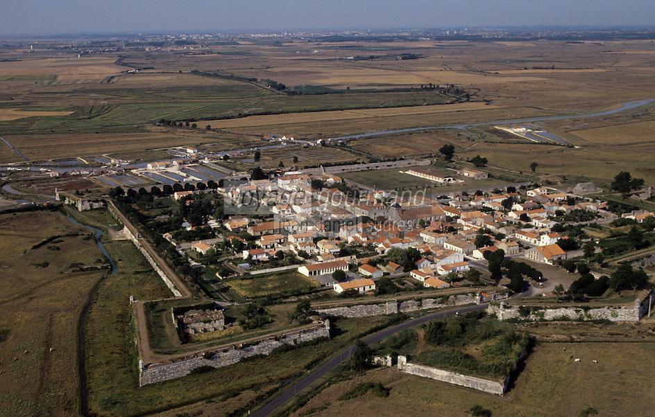 Europe/France/Poitou-Charentes/17/Charente-Maritime/Brouage : Vue aérienne de la citadelle que modernisa Vauban