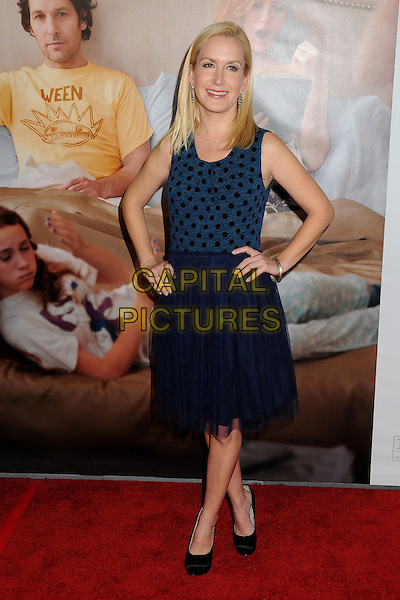 "Angela Kinsey.""This Is 40"" Los Angeles Premiere held at Grauman's Chinese Theatre, Hollywood, California, USA..December 12th, 2012.full length dress blue sleeveless black polka dot top tulle hands on hips.CAP/ADM/BP.©Byron Purvis/AdMedia/Capital Pictures."