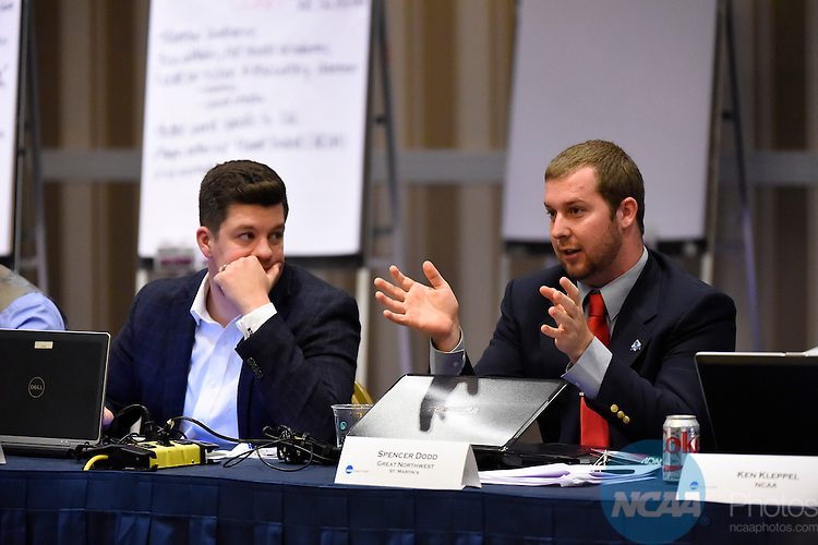 14 JAN 2015:  The Division II Student-Athlete Advisory Committee meeting takes place at the 2015 NCAA Convention held at the Gaylord National Resort and Convention Center in National Harbor, MD.  Jamie Schwaberow/NCAA Photos