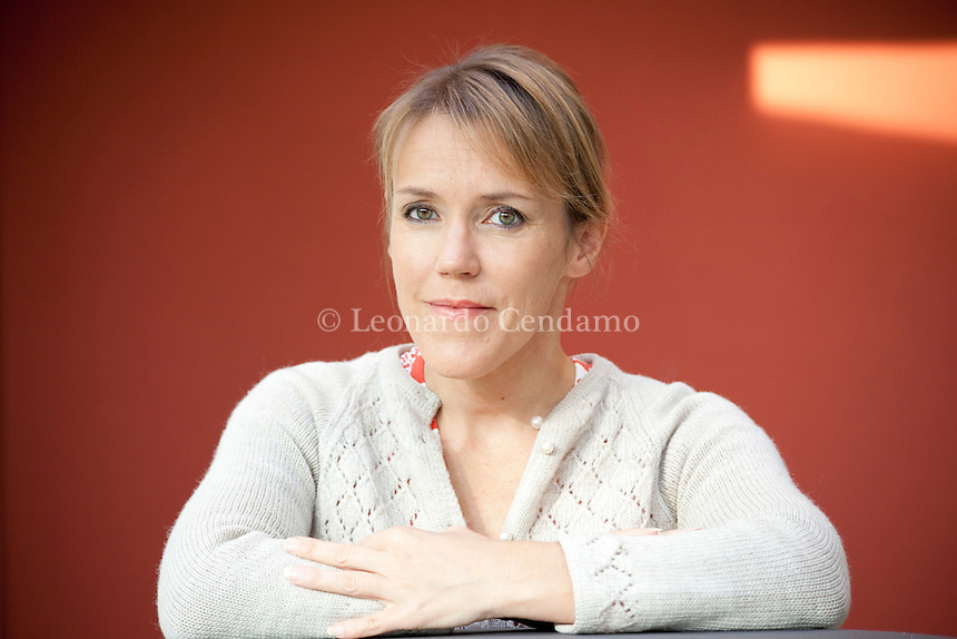 Barzanò, (Lecco) Italy, October 2009. Asa Larsson, Swedish writer, born in Kiruna. Beginning her career as former tax lawyer, Asa Larsson now writes full time. Her first book is 'Sun Storm' (2003) winner of the Swedish Crime Writers Association Prize for best debut novel.
