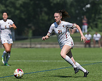 Newton, Massachusetts - August 26, 2018: NCAA Division I. Boston College (white) defeated University of Connecticut (blue/white), 2-0, at Newton Campus Soccer Field.
