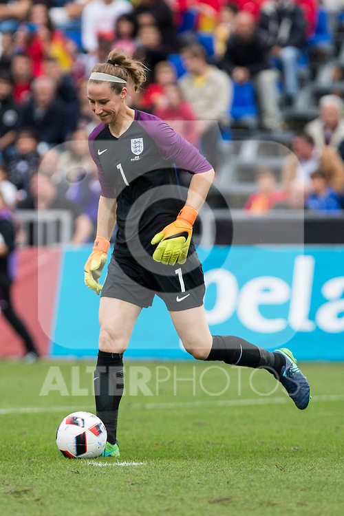England's Karen Bardsley during the frendly match between woman teams of  Spain and England at Fernando Escartin Stadium in Guadalajara, Spain. October 25, 2016. (ALTERPHOTOS/Rodrigo Jimenez)