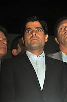 SAO PAULO, SP, 17 DE MAIO 2012 - DEMOCRATAS ANUNCIA APOIO AO CANDIDATURA DE JOSE SERRA -  O deputado Antonio Carlos Magalhaes Neto durante evento em que o Democratas anuncia apoio a candidatura de Jose Serra no Clube Homs na regiao da Avenida Paulista, nesta quinta-feira, 17. (FOTO: THAIS RIBEIRO / BRAZIL PHOTO PRESS).