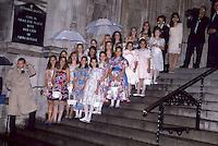 Mariah Carey Tommy Mottola Wedding<br /> NYC 1993 Flower Girls by Jonathan Green