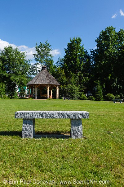 Town park in Bartlett, New Hampshire USA