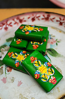 Traditional scented bar soaps on display in Nala Designs in Bangsar, Kuala Lumpur, Malaysia, on 18 August 2015. Nala Designs, by founder and designer Lisette Scheers, is inspired by Malaysia's melting pot of Chinese, Malay and Indian cultures. Photo by Suzanne Lee for Monocle