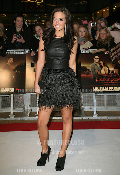 Tulisa Contostavlos arriving for the UK premiere of The Twilight Saga: Breaking Dawn Part 1 at Westfield Stratford City, London. 17/11/2011 Picture by: Alexandra Glen / Featureflash