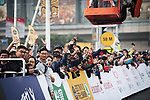 Fans wait for the start of the 2017 Tour de France Skoda Shanghai Criterium, Shanghai, China. 29th October 2017.<br /> Picture: ASO/Pauline Ballet | Cyclefile<br /> <br /> <br /> All photos usage must carry mandatory copyright credit (&copy; Cyclefile | ASO/Pauline Ballet)