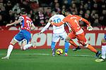 "Granada CF's Joaquin Marin ""Quini"", Rui Silva  and Real Club Deportivo de la Coruña's Nahuel Leiva during La Liga 2 match. February 10,2019. (ALTERPHOTOS/Alconada)"