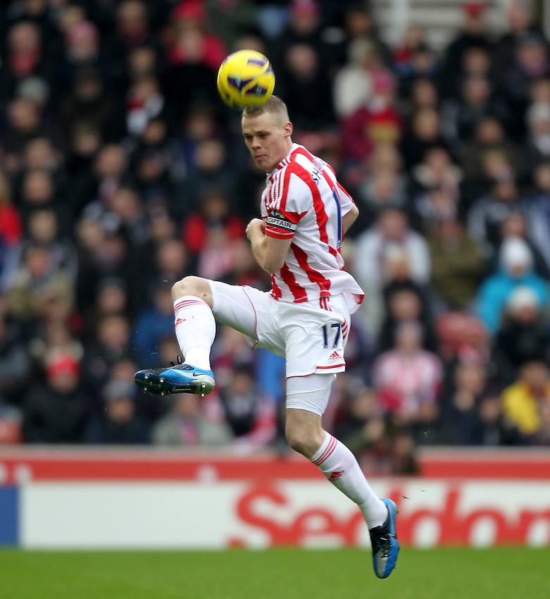 Stoke City's Ryan Shawcross ..Football - Barclays Premiership - Stoke City v Reading - Saturday 9th February 2013 - Britannia Stadium - Stoke..